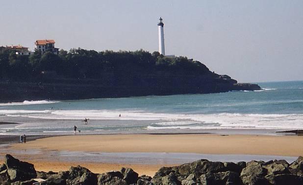 Plages d'Anglet. Phare de Biarritz