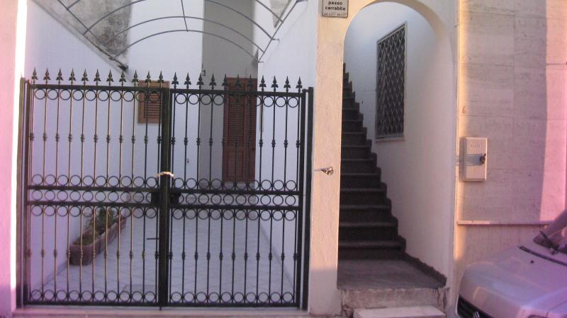 seen from the outside entrance with stairs leading to the terrace