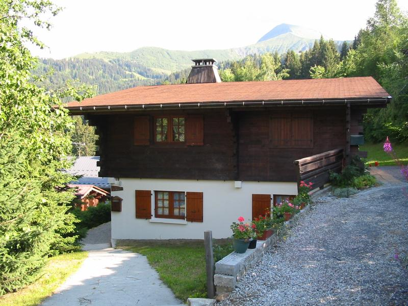 Chalet Heliodore and Mont Joux in Summer
