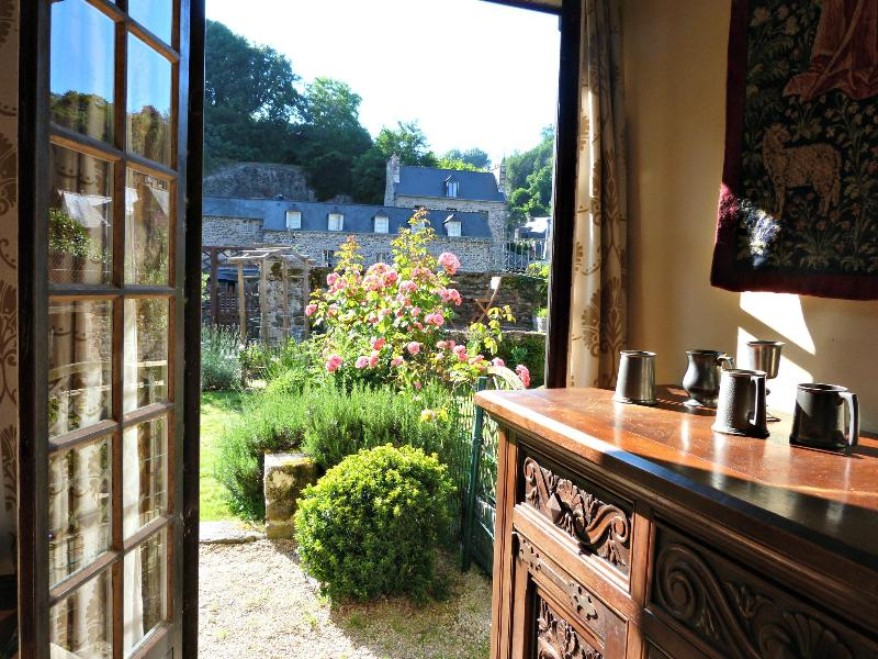 French windows lead out to the garden