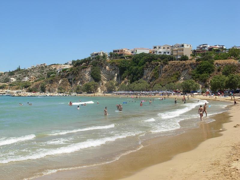 Almyrida Beach - op loopafstand van Villa Andreas.