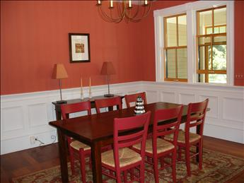 Dining Room has beautiful detail and plenty of seating.