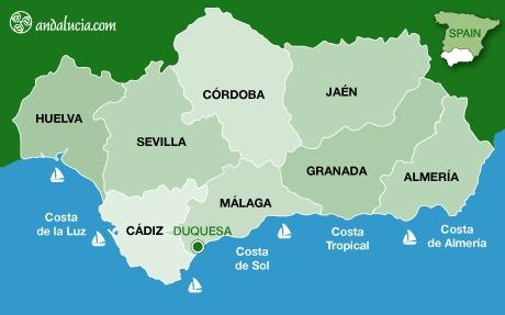 Map of Costa del Sol