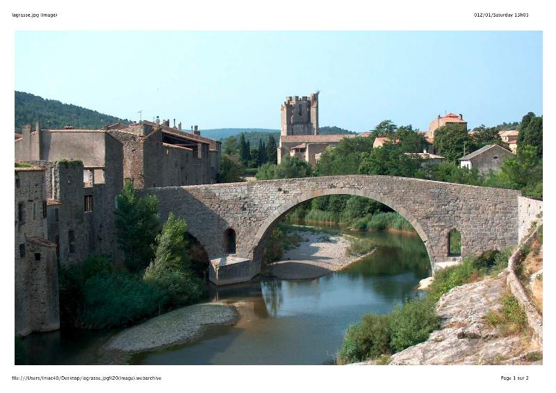 Lagrasse and its 12th century hump-back bridge.