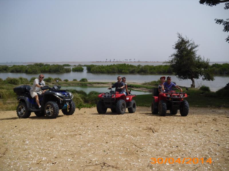 balade en quad, brousse et Sine Saloum