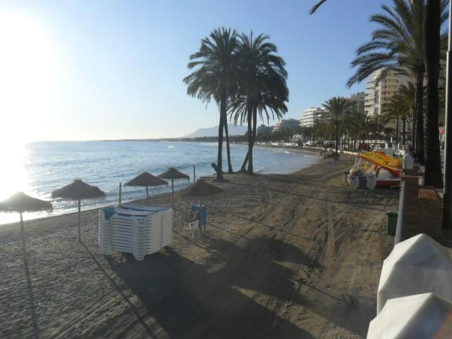 The beach near the apartment