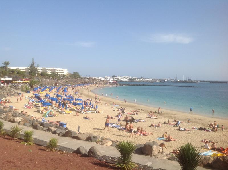 The famous beach at Playa Blanca. Excellent sunbathing and water activities less than 10 mins away.