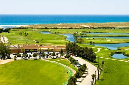 The clubhouse, golf links and the beach.