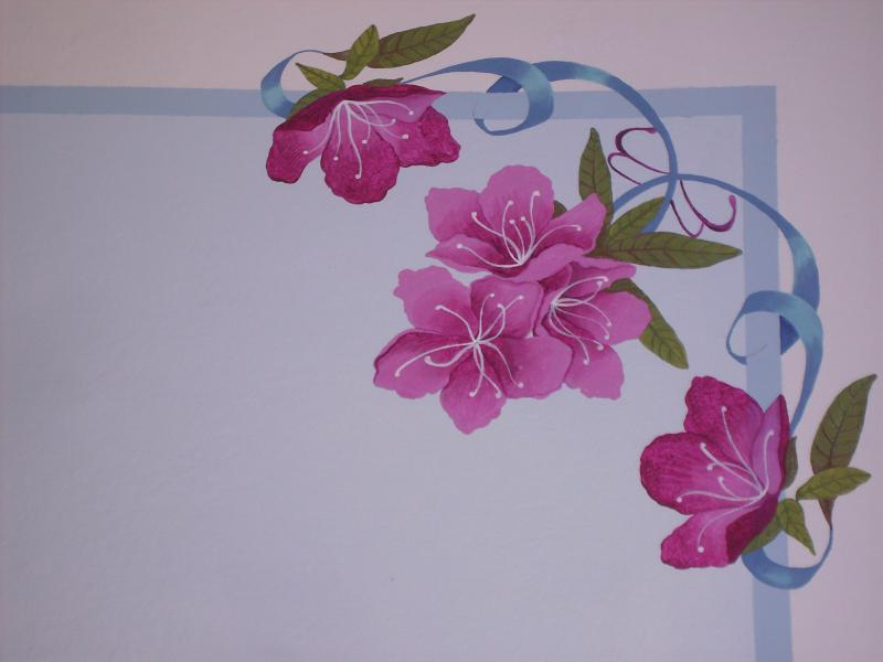 Floral decoration in the third bedroom by Elena Milani designer.