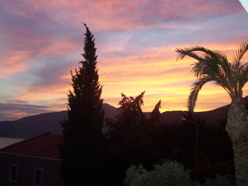 September sunset from Apt Gigi master balcony