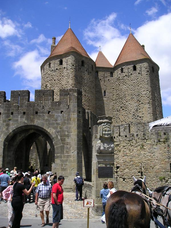 Entrance to walled city of Carcassonne. 45 minutes drive from house