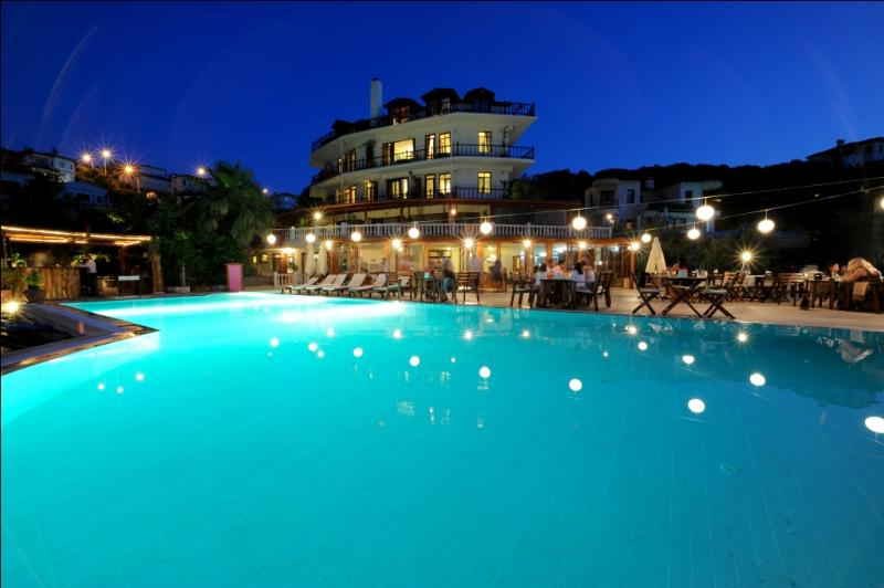 Dinner by the poolside, next door, Club Hotel Barbarossa