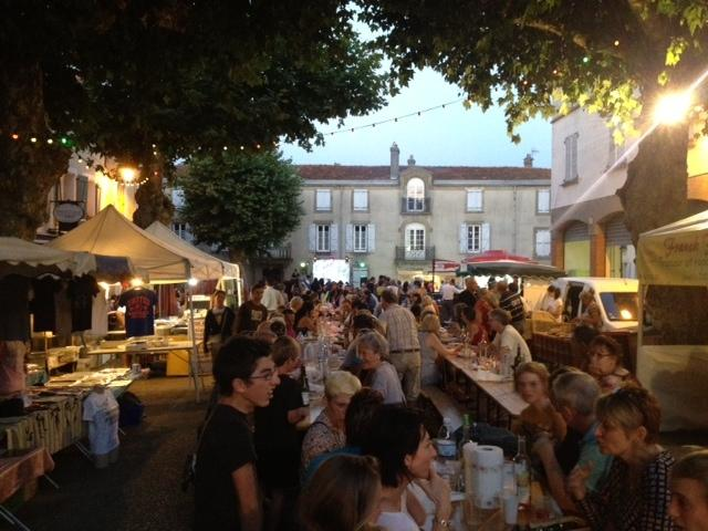Friday night food market (July) in Leran. 20 minutes drive from the house.