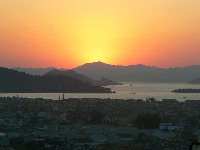 Fethiye at sunset