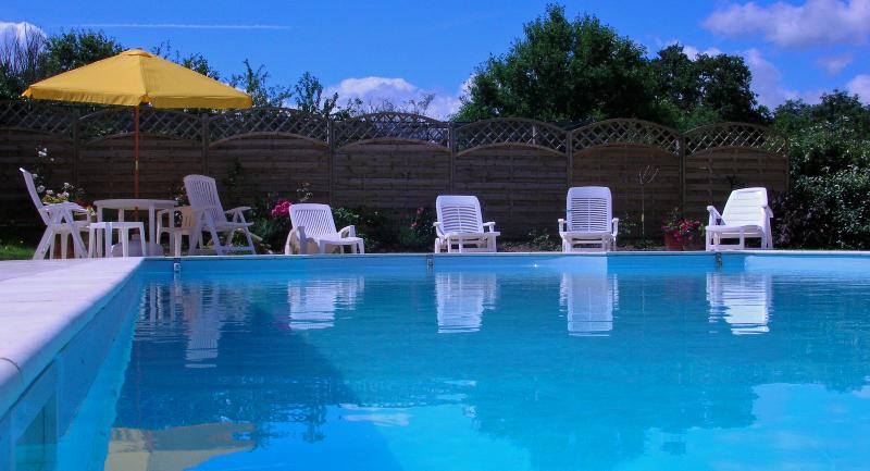 Large heated pool available to guests May to September