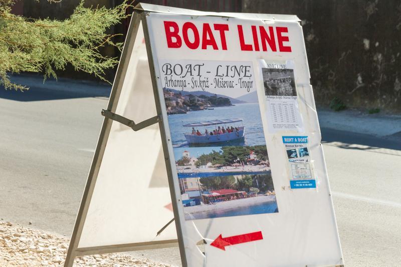 Boat line from Mastrinka to Trogir