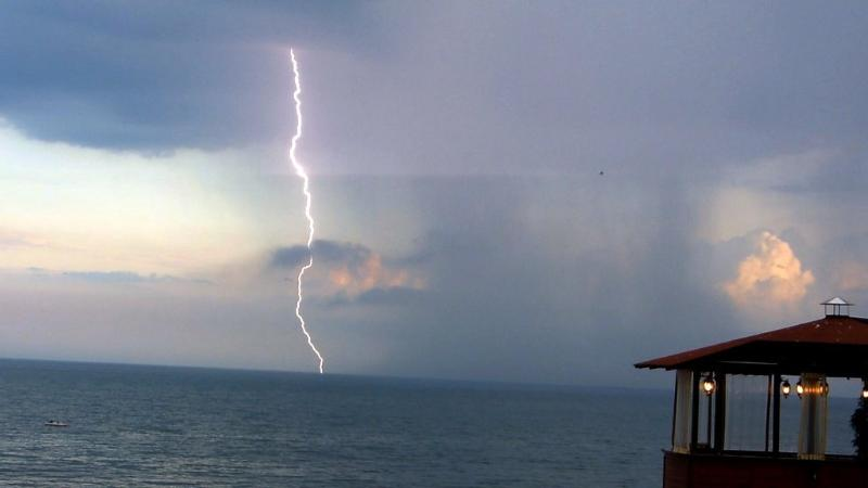 Amazing storms in May 2014. from beach restaurant in Old Nessebar