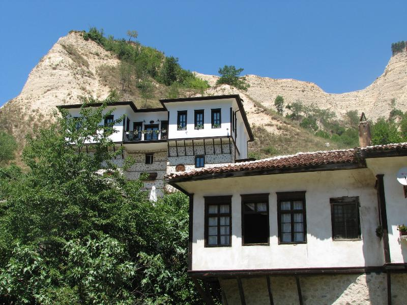 Melnik is known for its old houses with remarkable architecture, weird rock formations and wine.