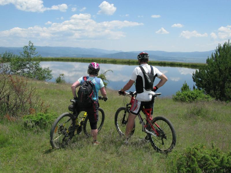 Natural mountain biking trails