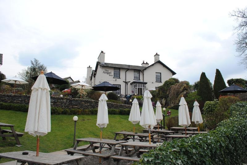 The Angel Inn is highly recommended for its pub grub and ales and is 2 minutes walk away