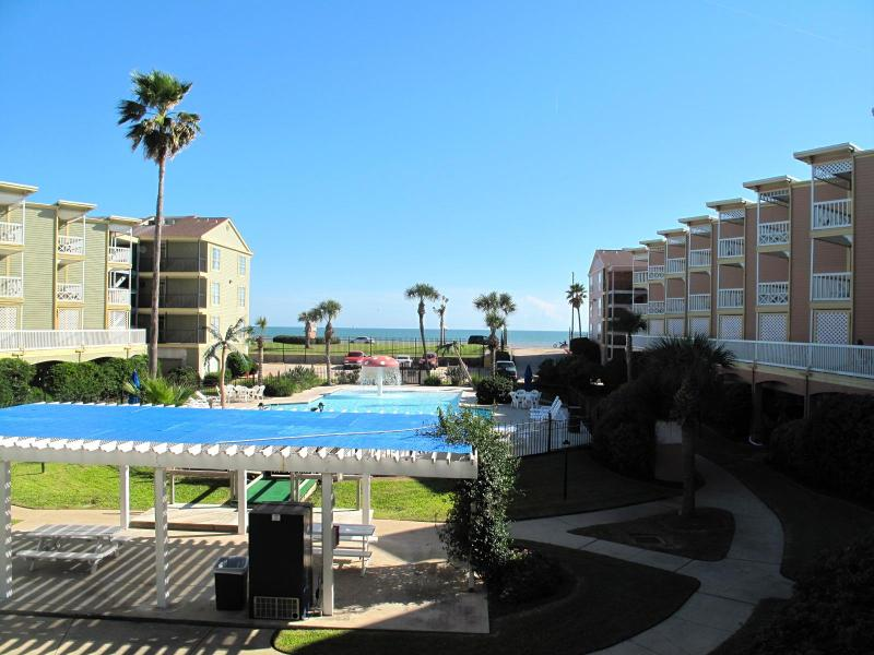 Balcony view of the Gulf and Pool