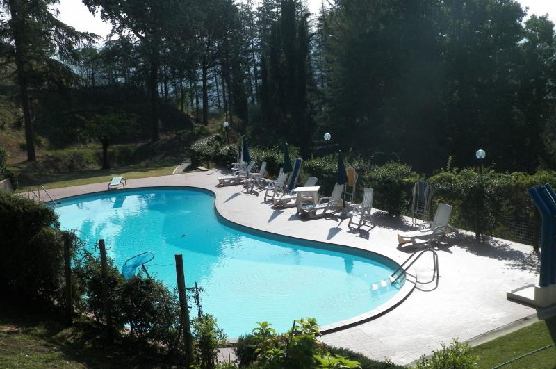 Fantastic and very large private and gated pool part of extremely large property outside small town.