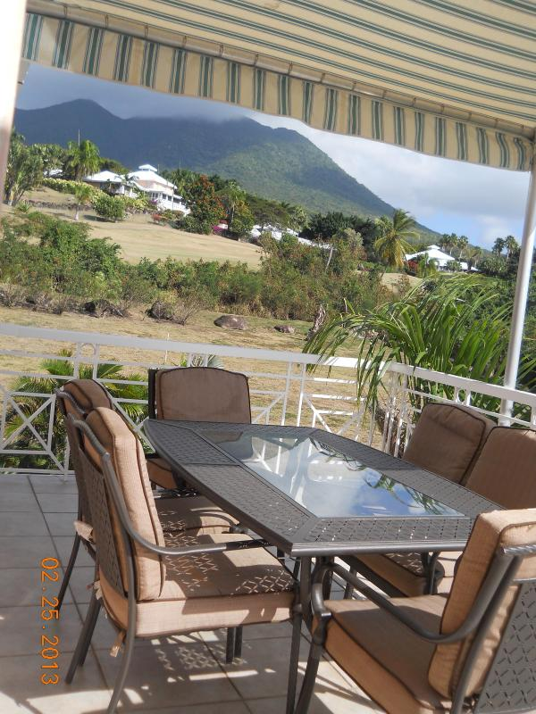 View of Mt. Nevis from the deck off of the 2nd floor kitchen