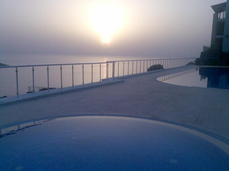 The pool at sunset - on a warm evening