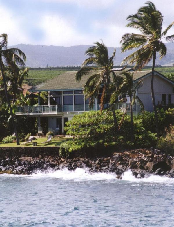 View of Hale Hokuu Too from Boat Harbor