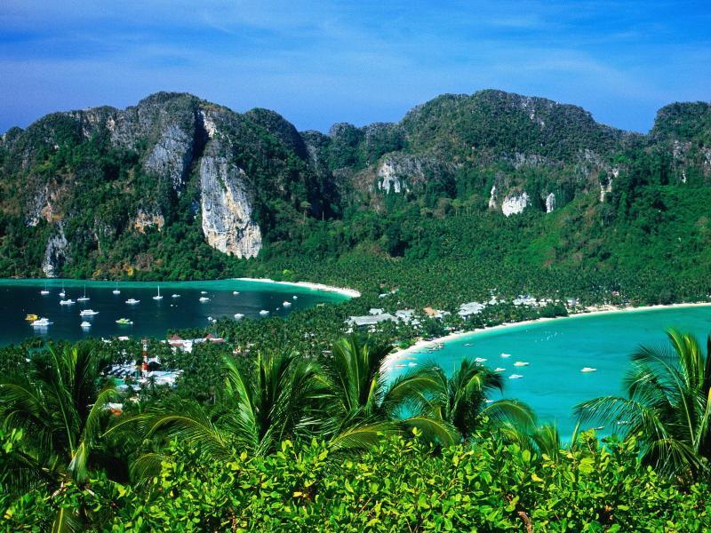 O incomparável Phi Phi ilhas só um barco Ride Away