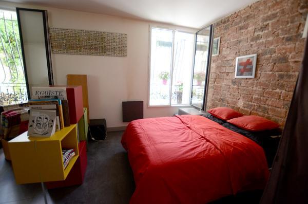 bedroom in the open space