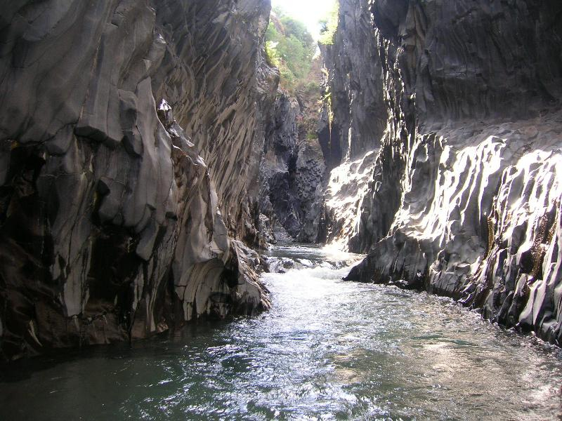 Gole of Alcantara river