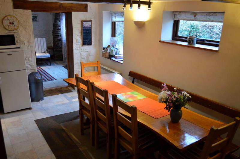 Lots of room around the kitchen table for all friends and family