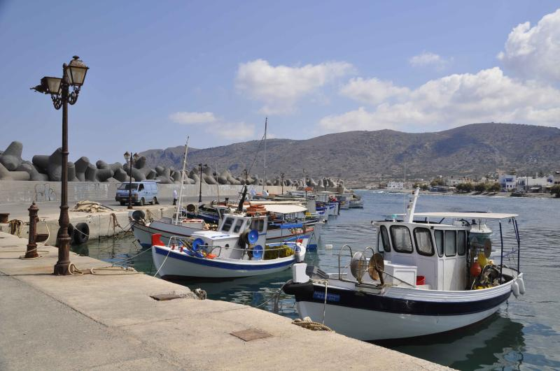 Milatos harbour - fish straight to your favourite taverna.