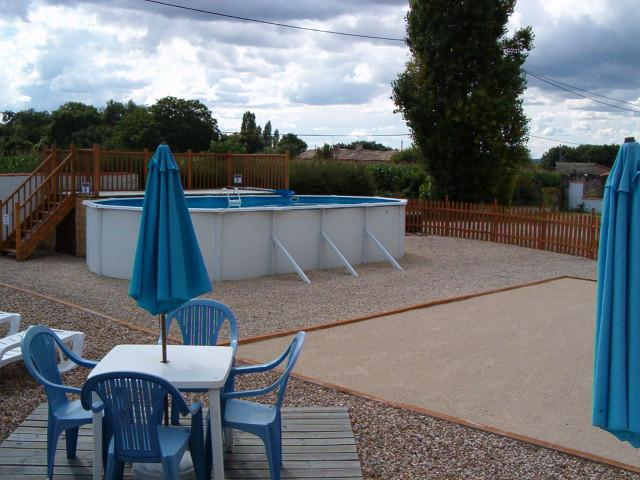 Above-ground pool open from mid-June to mid-September (dependant on weather)