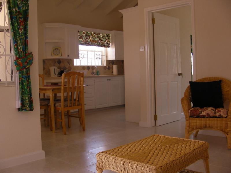 Open plan lounge, kitchen, dining room