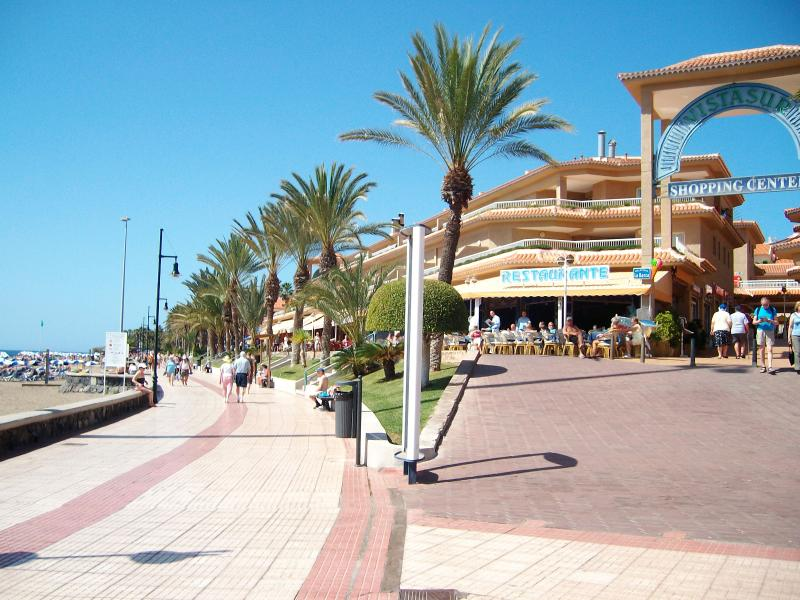 You can walk to Las Americas  in 15 mins along the sea front