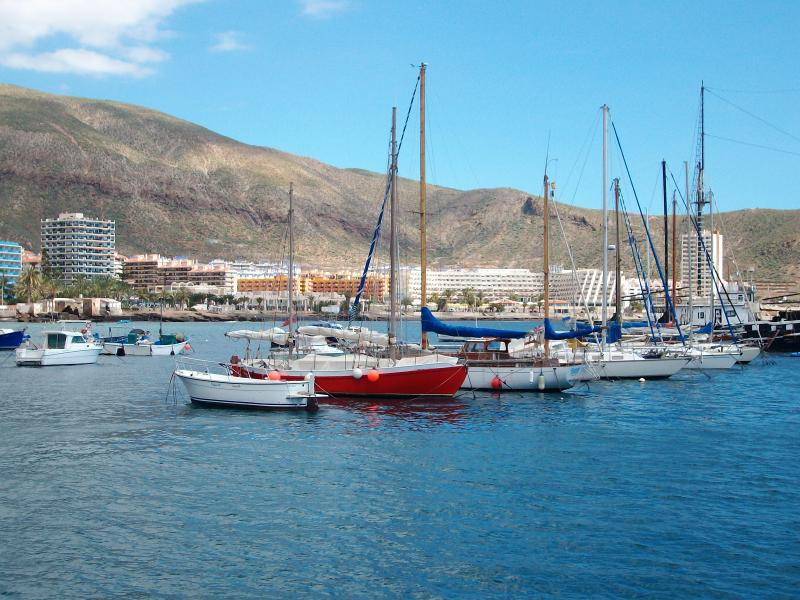View of  Los Cristianos Harbour,within 10 minutes  walk of Victoria Court.