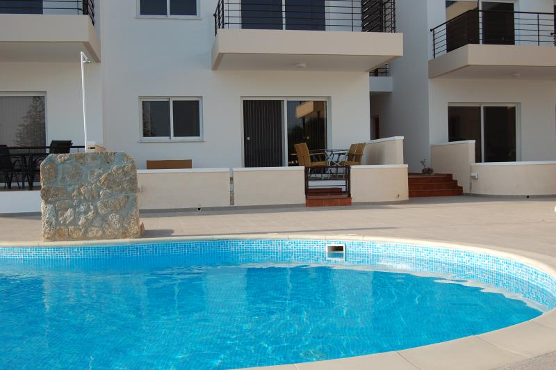 The ground floor apartment and swimming pool