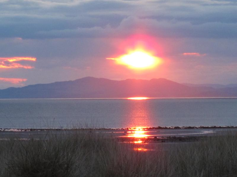 Sunset from Allonby beach to Criffel