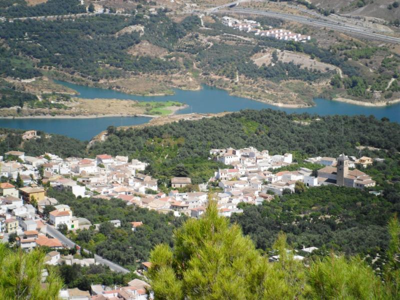 Besnar Dam below the village of Pinos Del Valle