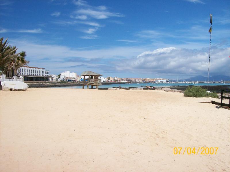 One of many beautiful beaches in Corralejo