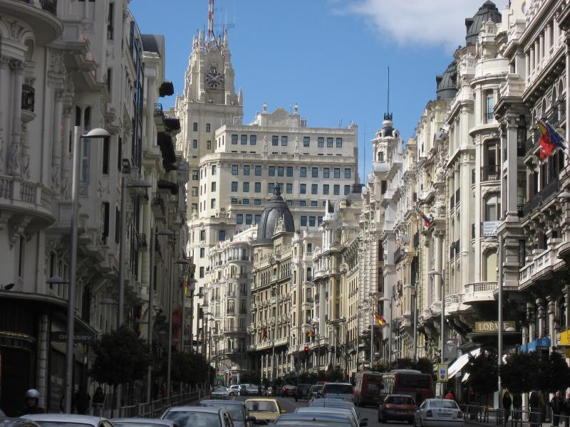 Gran Vía Street, 2 minutes walking from the apartment