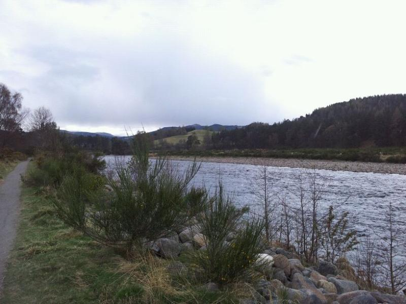 River Dee behind house