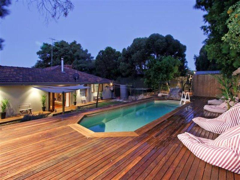 'La Plage' features a solar heated pool