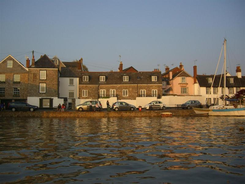 View from estuary at high tide