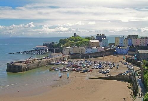 Tenby's wonderful North Beach and the Harbour.
