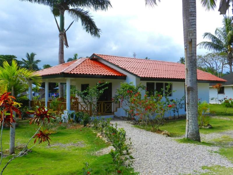 Cottage D with large kitchen, living area and bathroom, has large terrace