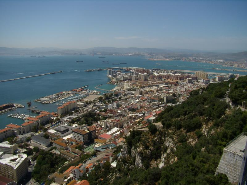 gibraltar from the monkey's view
