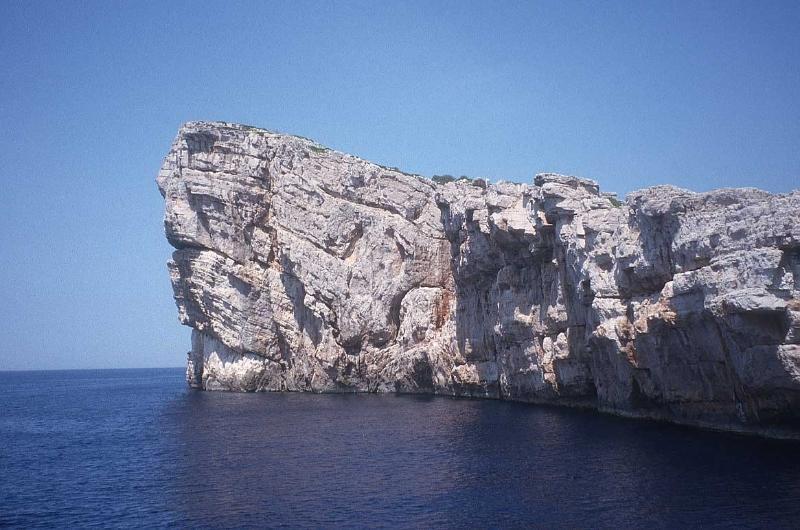 Kornati islands, National Park, clif that looks like dog